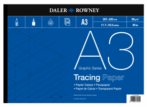 TRACING PAPER DALER ROWNEY 60G, A3