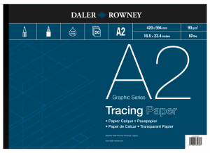 DALER & ROWNEY TRACING PAPER 90G,  A2