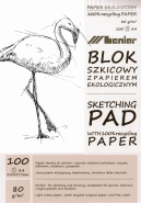 LENIAR SKISSBLOCK A4 80G 100ARK RETURPAPPER