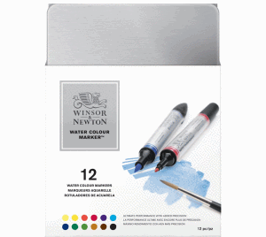 WINSOR & NEWTON WATER COLOUR MARKER 12-SET