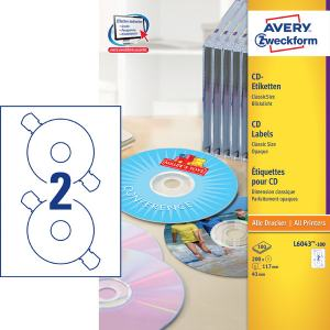 AVERY CD/DVD CLASSIC SIZE 50/ST