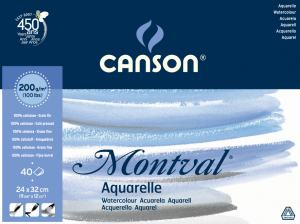 CANSON AKVARELLBLOCK MONTVAL 200GRAM