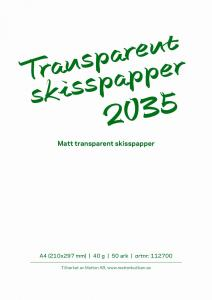 TRANSPARENT SKISSBLOCK 2035 A4