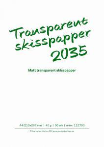 TRANSPARENT SKISSBLOCK, 30G PAPPER