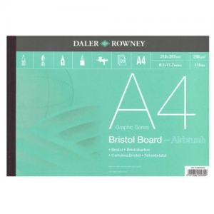 DALER ROWNEY BRISTOL AIRBRUSHBLOCK 250G A4
