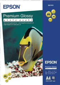 BLÄCKSTRÅLEPAPPER EPSON PREMIUM GLOSSY A4 50-PACK