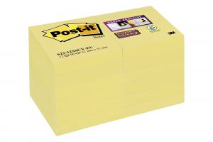 POST-IT GUL 51X51MM, 12 ST/FRP