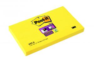 POST-IT 76X127MM, YELLOW