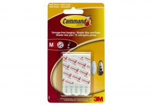 3M  COMMAND MONTERINGSSTRIPS MEDIUM  1,5X7CM 8-PACK