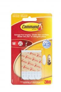 3M COMMAND MONTERINGSSTRIPS 1,5X7CM 8-PACK
