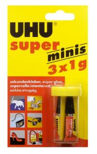 UHU SUPERLIM MINI 3 TUBER X 1 GRAM