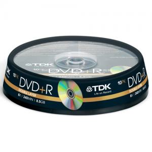 DVD+R DL 8,5GB 8X TDK CAKEBOX 10-P