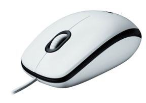 LOGITECH M100 MOUSE WHITE