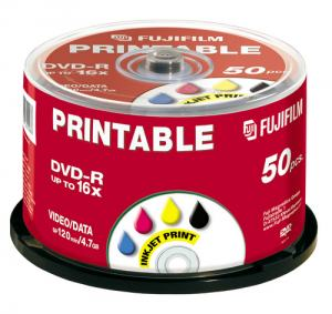 DVD-R FUJI 4,7GB VIT 16X 50-PACK CAKEBOX