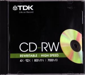 CD REWRITABLE SKIVA 700MB TDK 12X