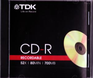 CD RECORDABLE 700MB 52X TDK JEWELCASE