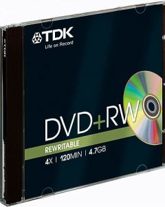 DVD+RW 4,7GB JEWELCASE 4X TDK