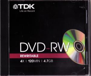 DVD-RW 4,7GB 4X JEWELCASE TDK