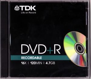DVD+R 4,7GB TDK 1-16X JEWELCASE