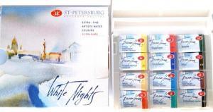 S:T PETERSBURG WHITE NIGHTS AKVARELLFÄRG HELKOPP 12-SET