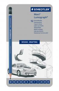 STAEDTLER MARS LUMOGRAPH 100 BLYERTSPENNA 12-SET