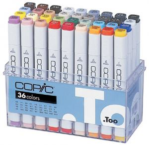 COPIC MARKER 36-SET BASIC