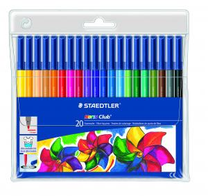 STAEDTLER NORIS CLUB TUSCHPENNOR 20-SET