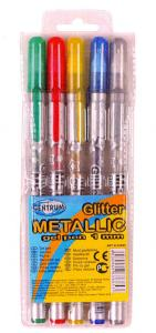GLITTERPENNOR GEL 5-SET