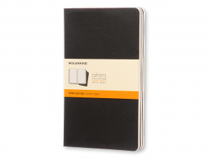 MOLESKINE CAHIER RULED BLACK XL