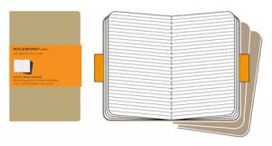 MOLESKINE CAHIER KRAFT 3-PACK LINJERAD POCKET
