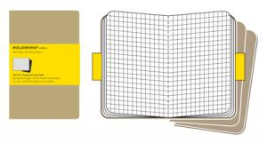 MOLESKINE CAHIER KRAFT RUTAD 3-PACK POCKET