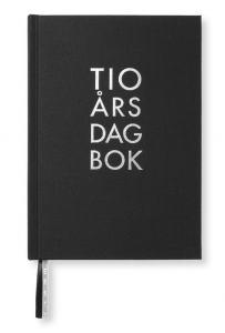 PAPERSTYLE DAGBOK 10-ÅRS SVART