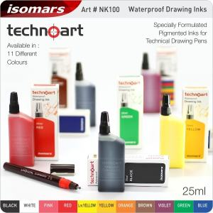 WATERPROOF DRAWING INK BRUN