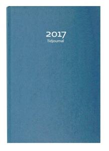 TIDJOURNAL 2017 BLÅ KARTONG