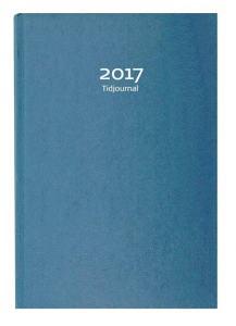 TIDJOURNAL 2018 BLÅ KARTONG
