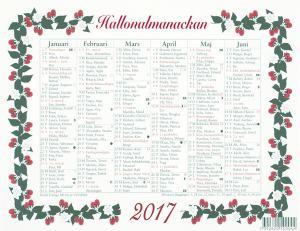 LILLA HALLONALMANACKAN 2017